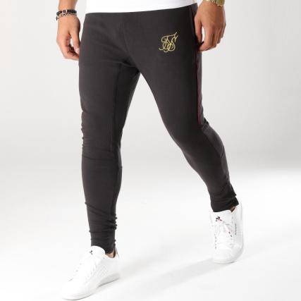 Jogging Pantalon 13394 Zonal Noir Siksilk Bordeaux Doré a0wAqBC