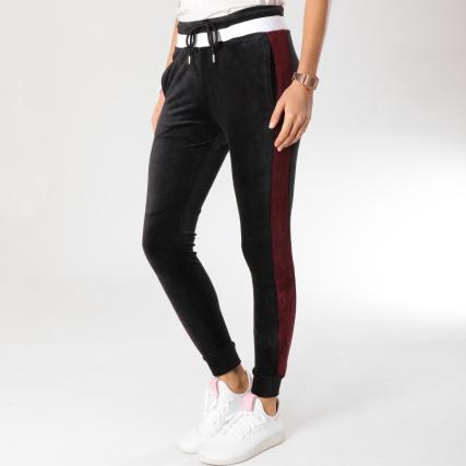 Project X - Pantalon Jogging Femme Velours F184029 Noir Blanc Bordeaux -  LaBoutiqueOfficielle.com ad138f8cb1d1
