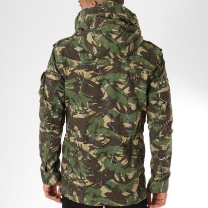Para Kaki Veste M50013tq Rookie Splatter Vert Camouflage Superdry Wpz74p XwqY4EFXx