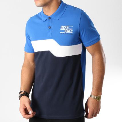 Jack And Jones - Polo Manches Courtes Mikkel Bleu Marine Blanc Bleu Clair -  LaBoutiqueOfficielle.com 5e0e9ec02c0e
