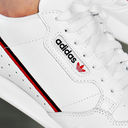 Baskets Core Adidas White G27706 Scarlet Footwear Continental 80 USSwHqdP