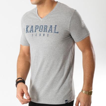 a27908d2c95 Kaporal - Tee Shirt Pazik Gris Chiné - LaBoutiqueOfficielle.com